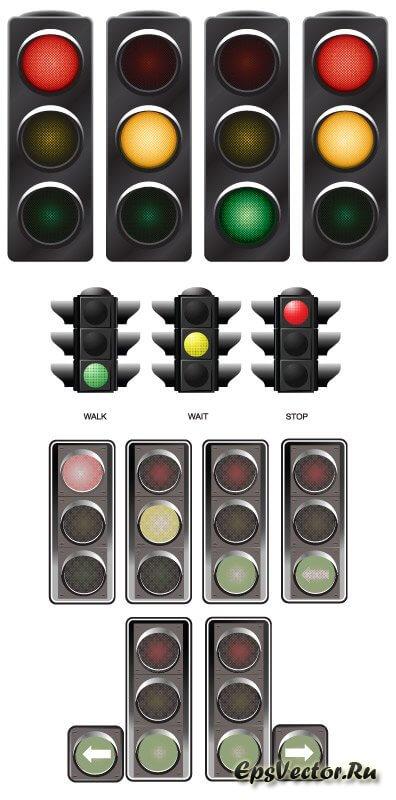 Светофор в векторе