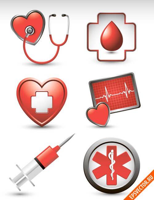 иконки медицина: