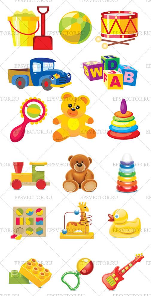 Клипарт детские игрушки: epsvector.ru/196-detskie-fony.html