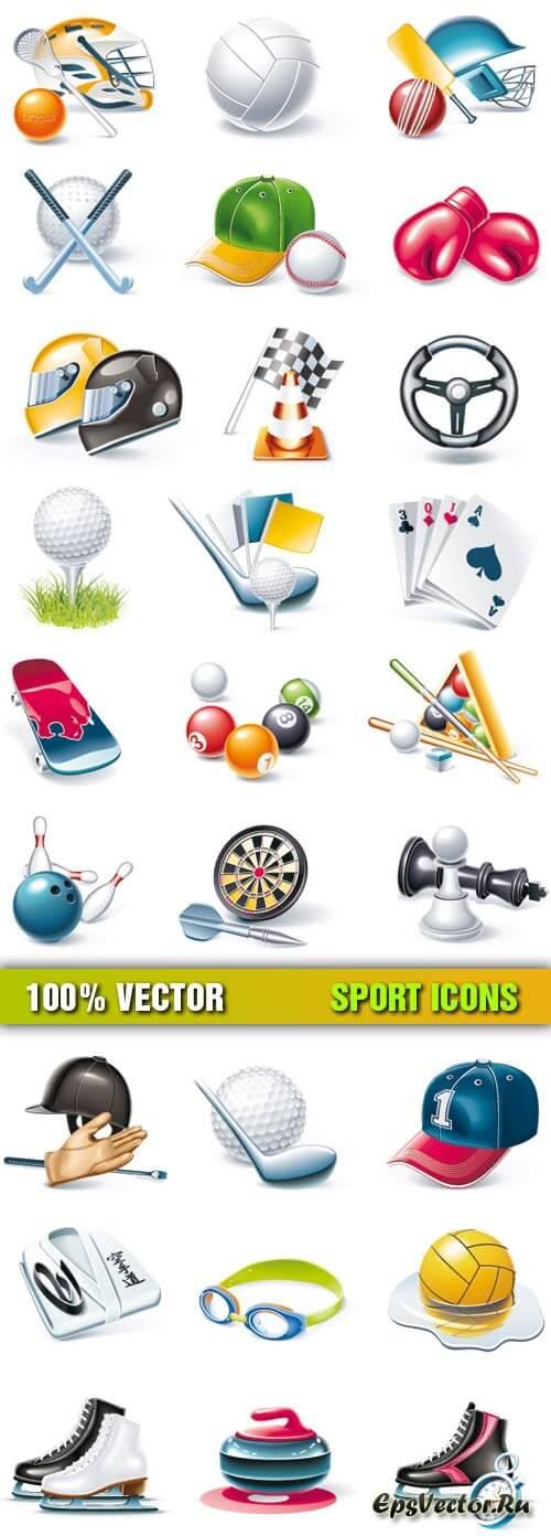 Спортивные иконки в векторе