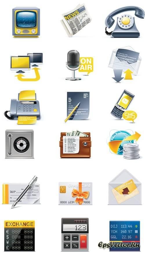 Векторные бизнес иконки