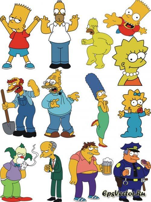 Симпсоны в векторе