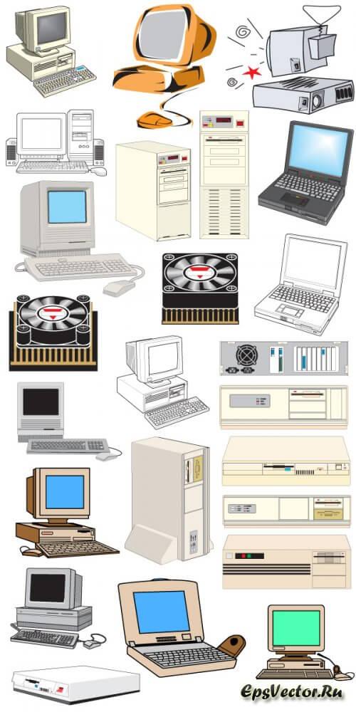 Компьютер в векторе