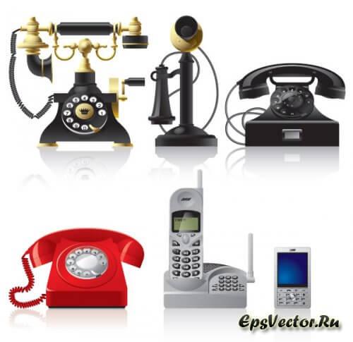 Телефон в векторе