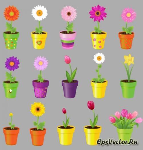 Цветок в векторе