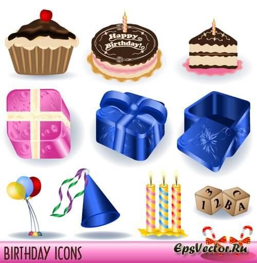 Иконки день рождения