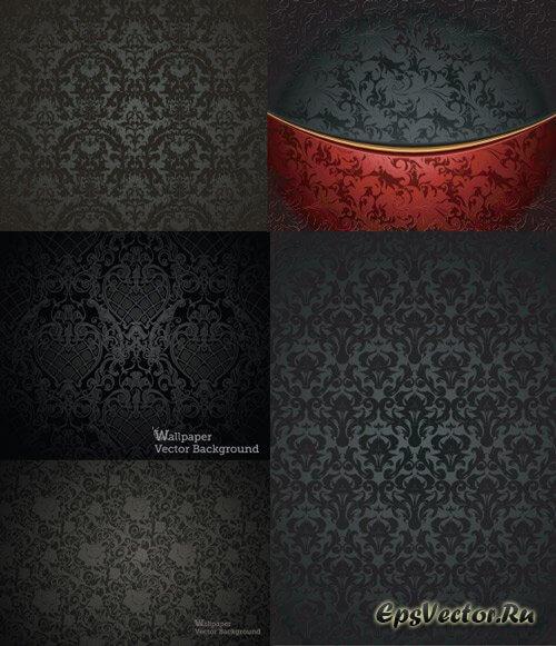 Черные векторные фоны