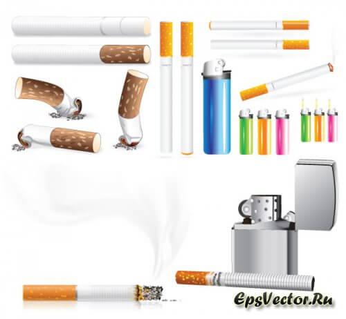 Сигарета в векторе