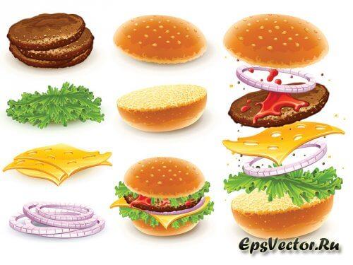 Гамбургер в векторе