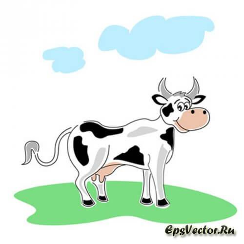 Корова в векторе
