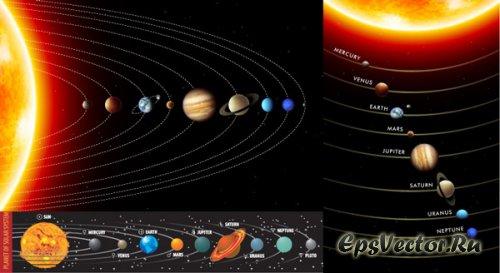 Планеты в векторе