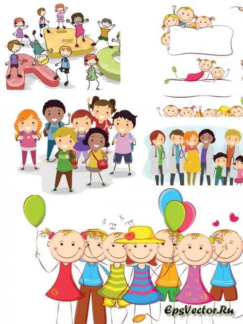 Дети в векторе