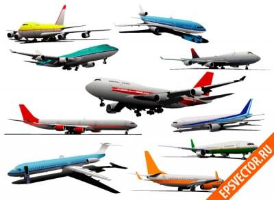 Самолет в векторе