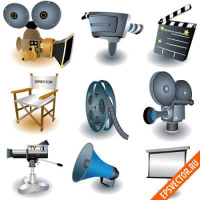 Иконки на тему кино