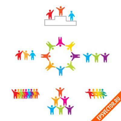Логотипы с людьми