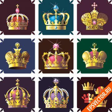 Короны в векторе