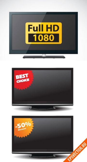 Телевизор в векторе