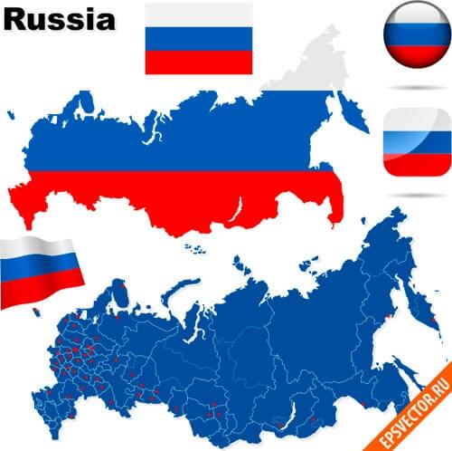карта россии вектор Eps скачать бесплатно - фото 9