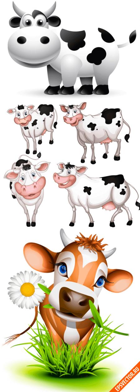 Коровы в векторе