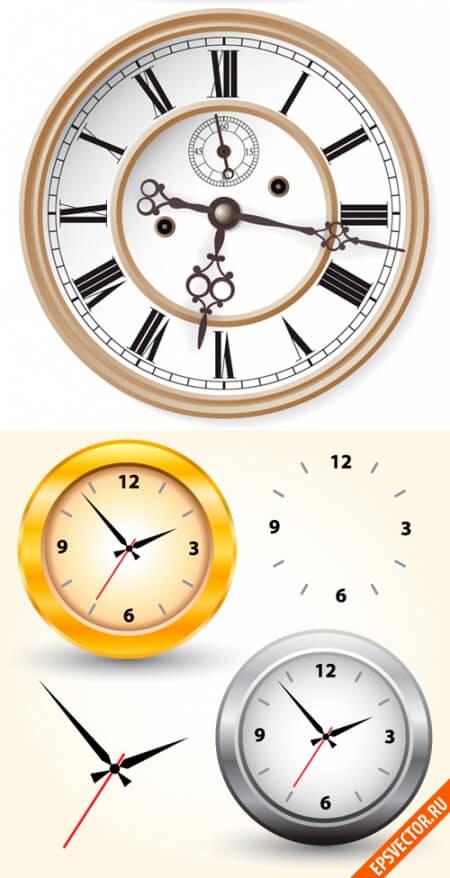 Часы в векторе