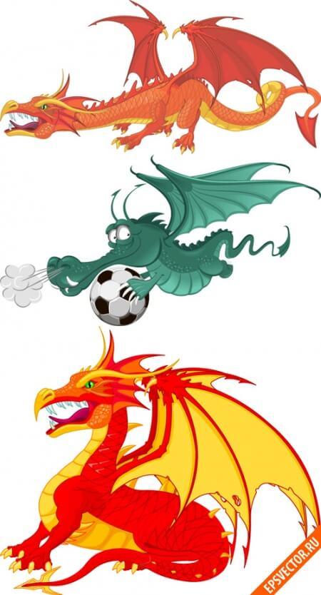 Драконы в векторе
