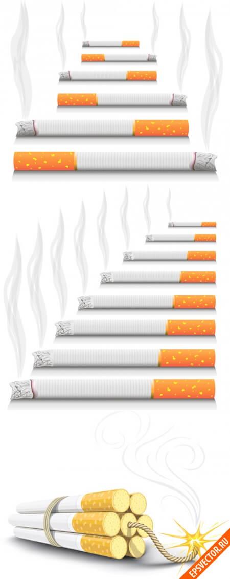 Сигареты в векторе