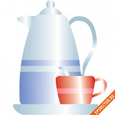 Чайник в векторе