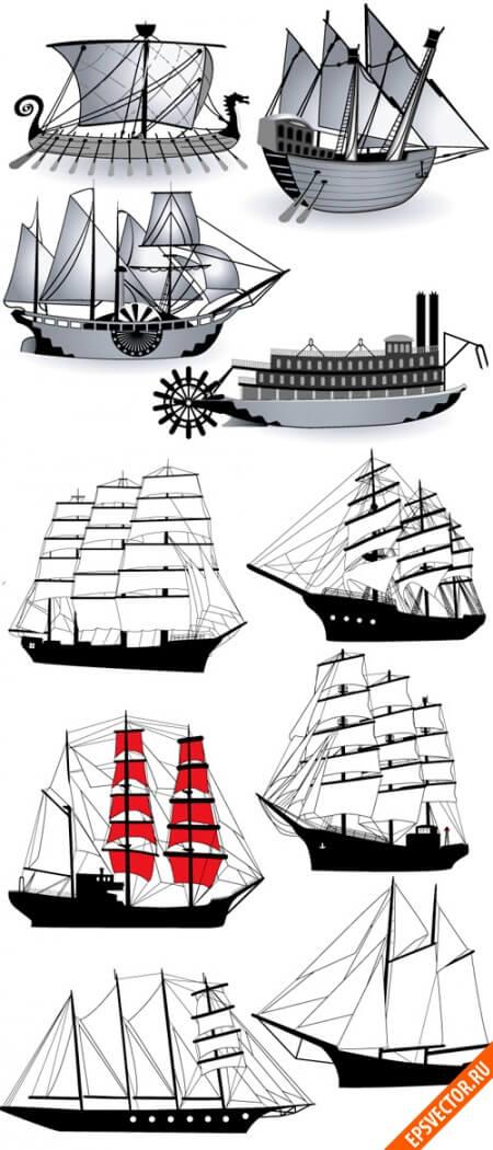 Корабли в векторе