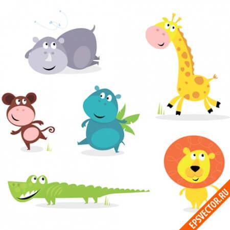 Животные в векторе