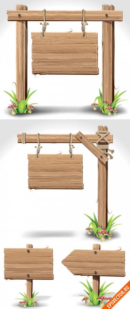 Деревянные таблички и вывески