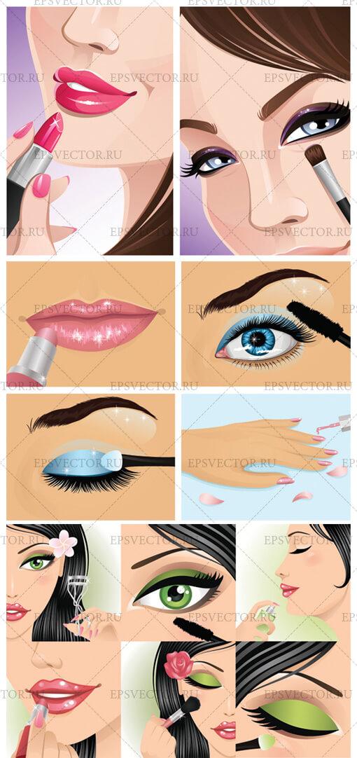 Клипарт макияж
