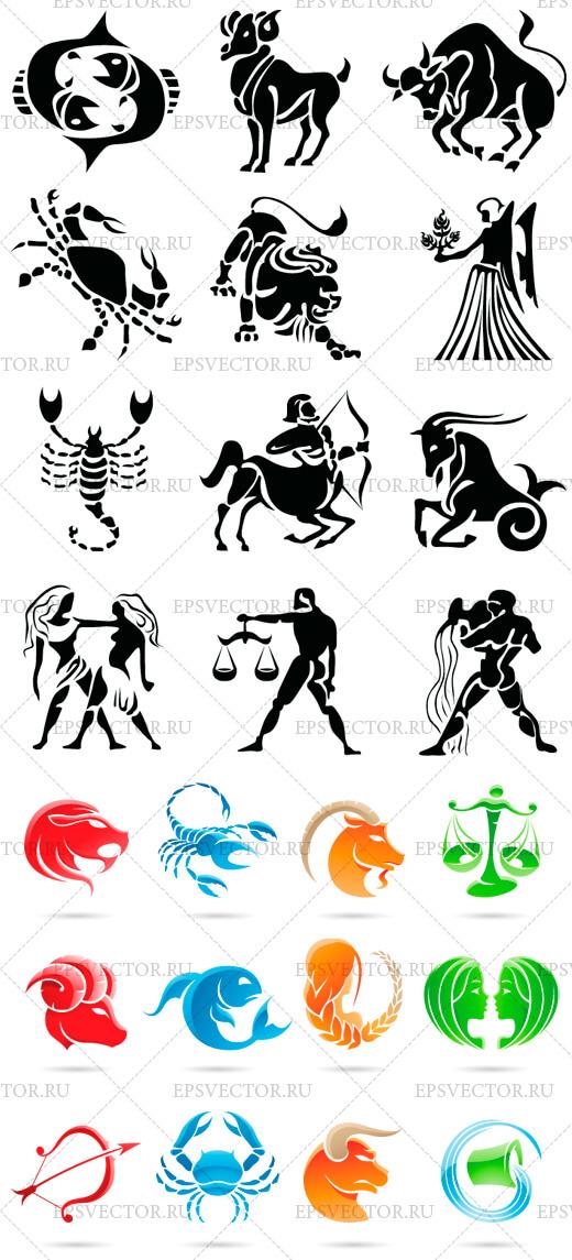 Знаки зодиака в векторе