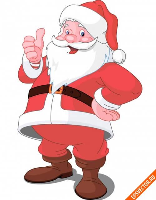 Дед Мороз в векторе