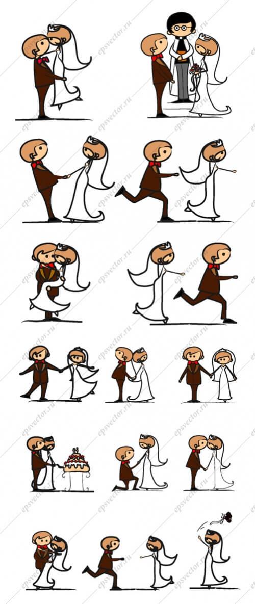 Векторная свадьба