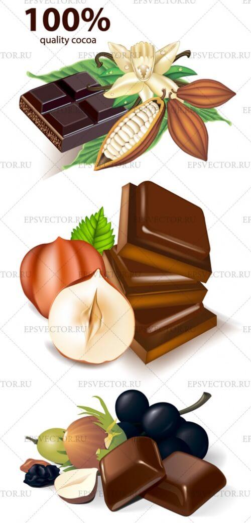 Клипарт шоколад в векторе