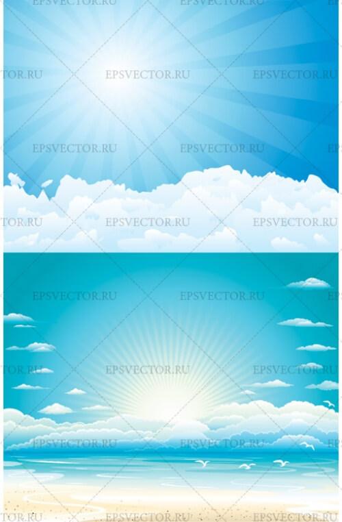Клипарт небо в векторе