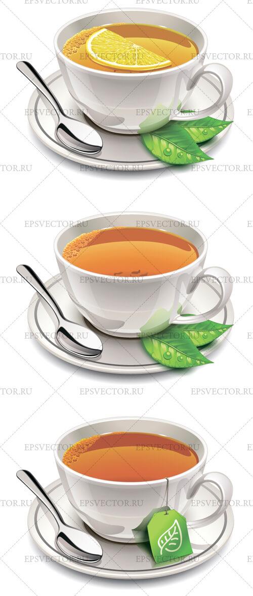 Чашка чая в векторе
