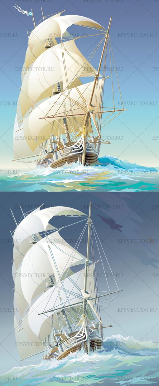 Корабль в векторе