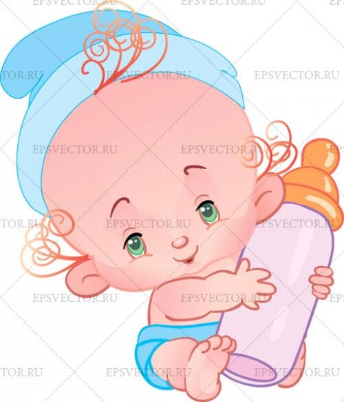 Малыш в векторе