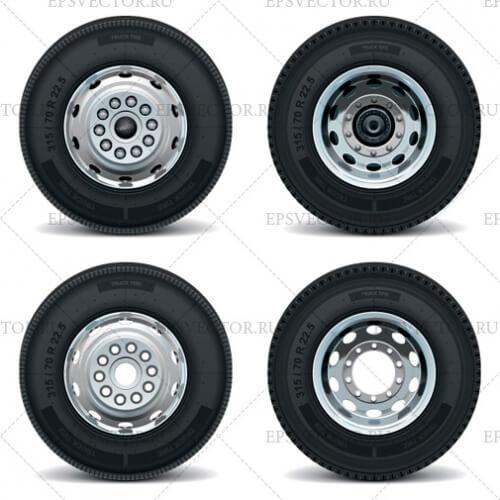 Клипарт колеса и шины