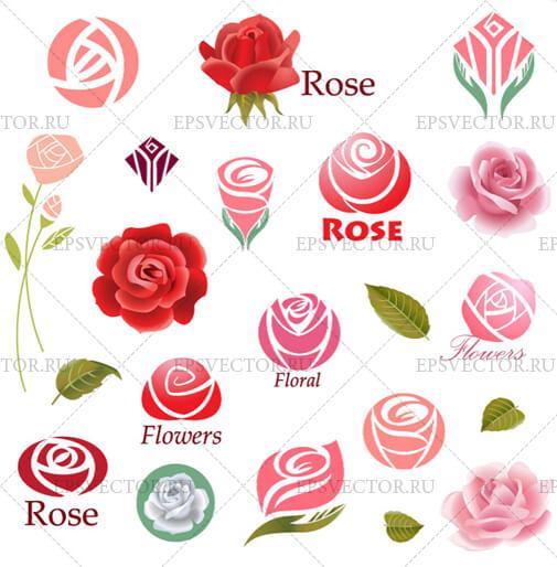 Стилизованные розы