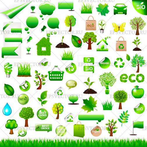 Зеленые иконки