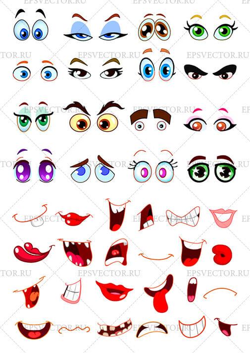 Глаза и рты